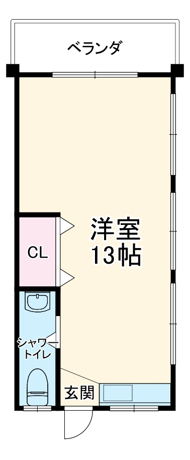 玉寄アパート・301号室の間取り