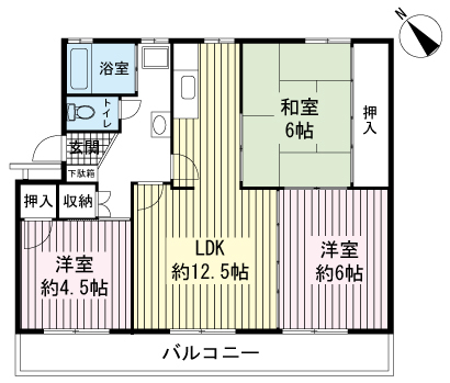 AZ Garden 千本浜公園 1号棟・203号室の間取り