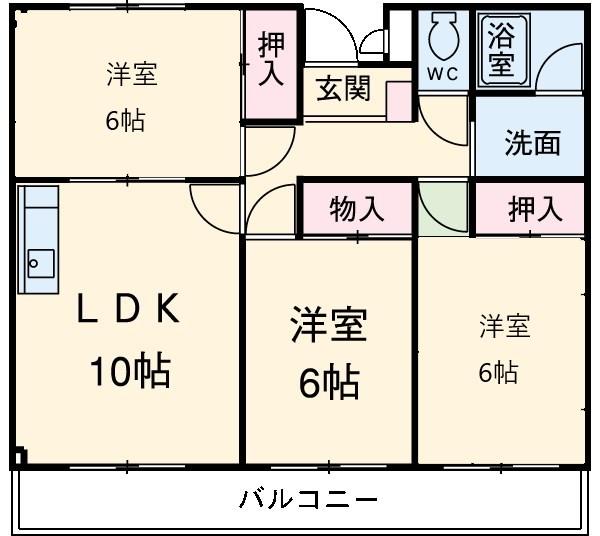 ライムリゾート八坂NO1・203号室の間取り