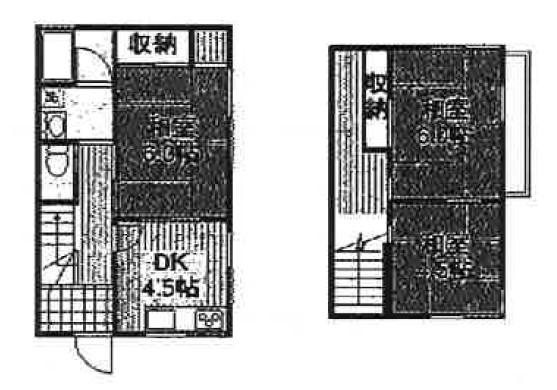 大島遠藤住宅Ⅱ・1号室の間取り