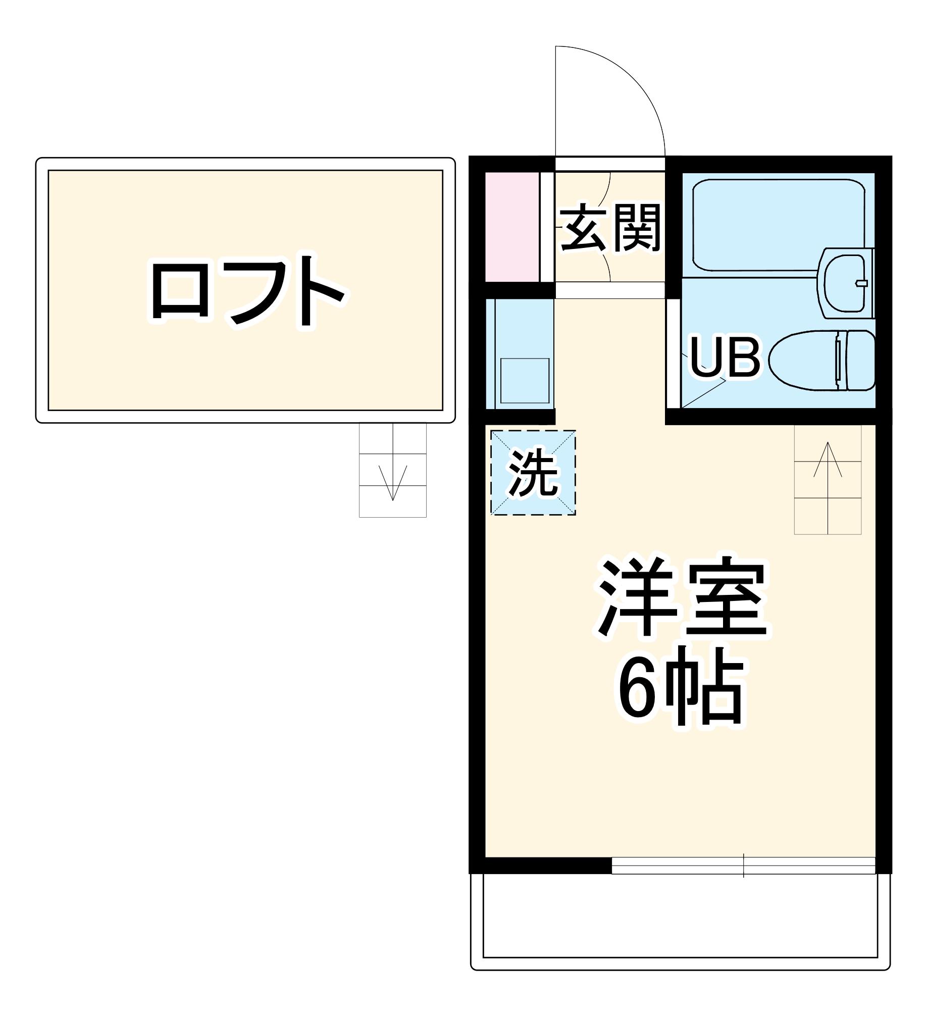 MIYASHIRO BASE・101号室の間取り