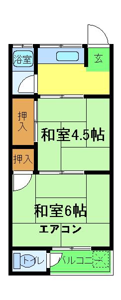 プチハイムキムラ 2-A号室の間取り