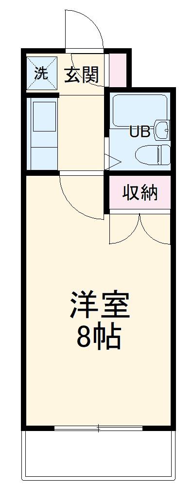 中沢シティハイツガーデン・412号室の間取り
