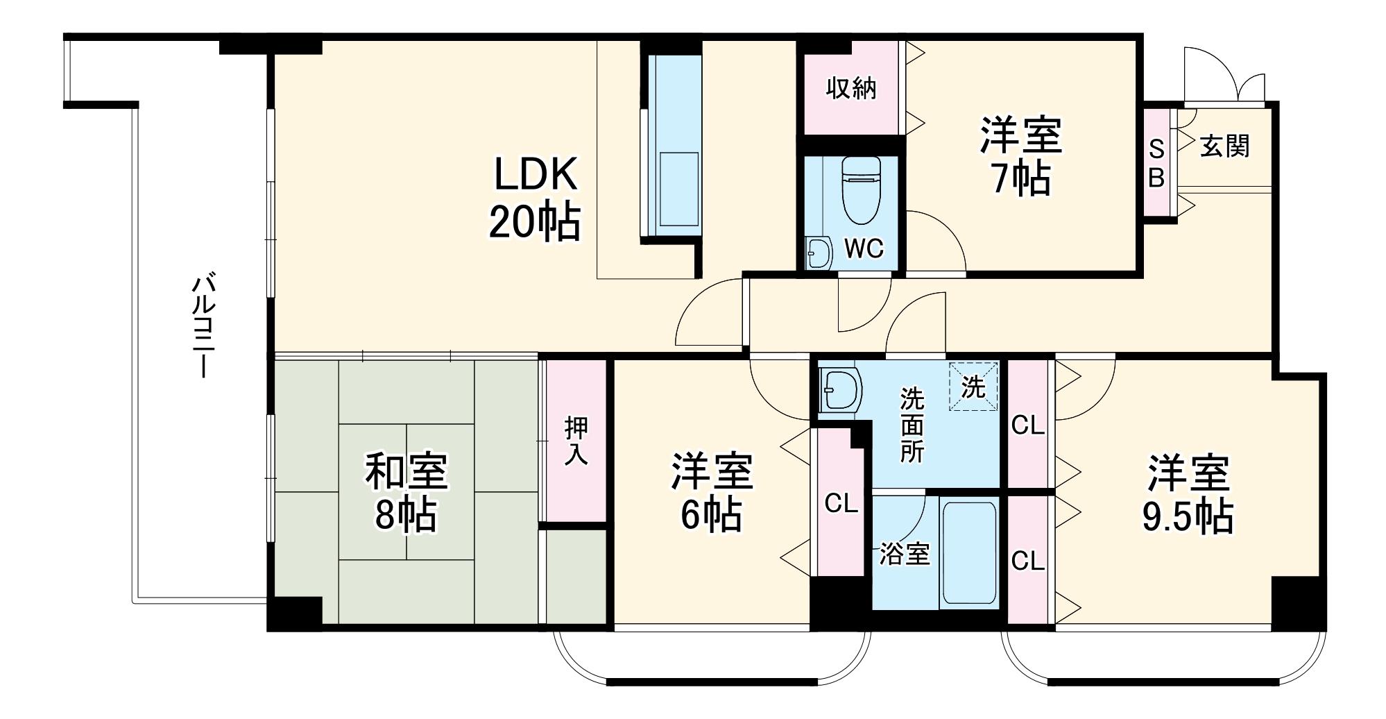 ライオンズマンション京都淀第2・201号室の間取り