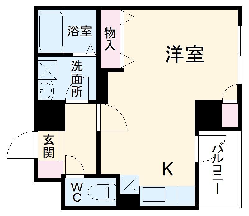 セントラル横浜・502号室の間取り