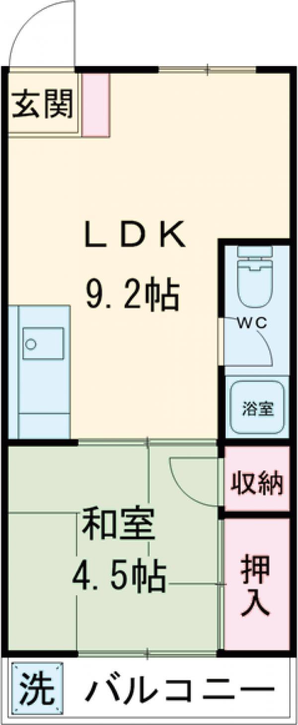 ワコーマンション・304号室の間取り