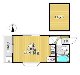 エスポワールYUKAWA・202号室の間取り