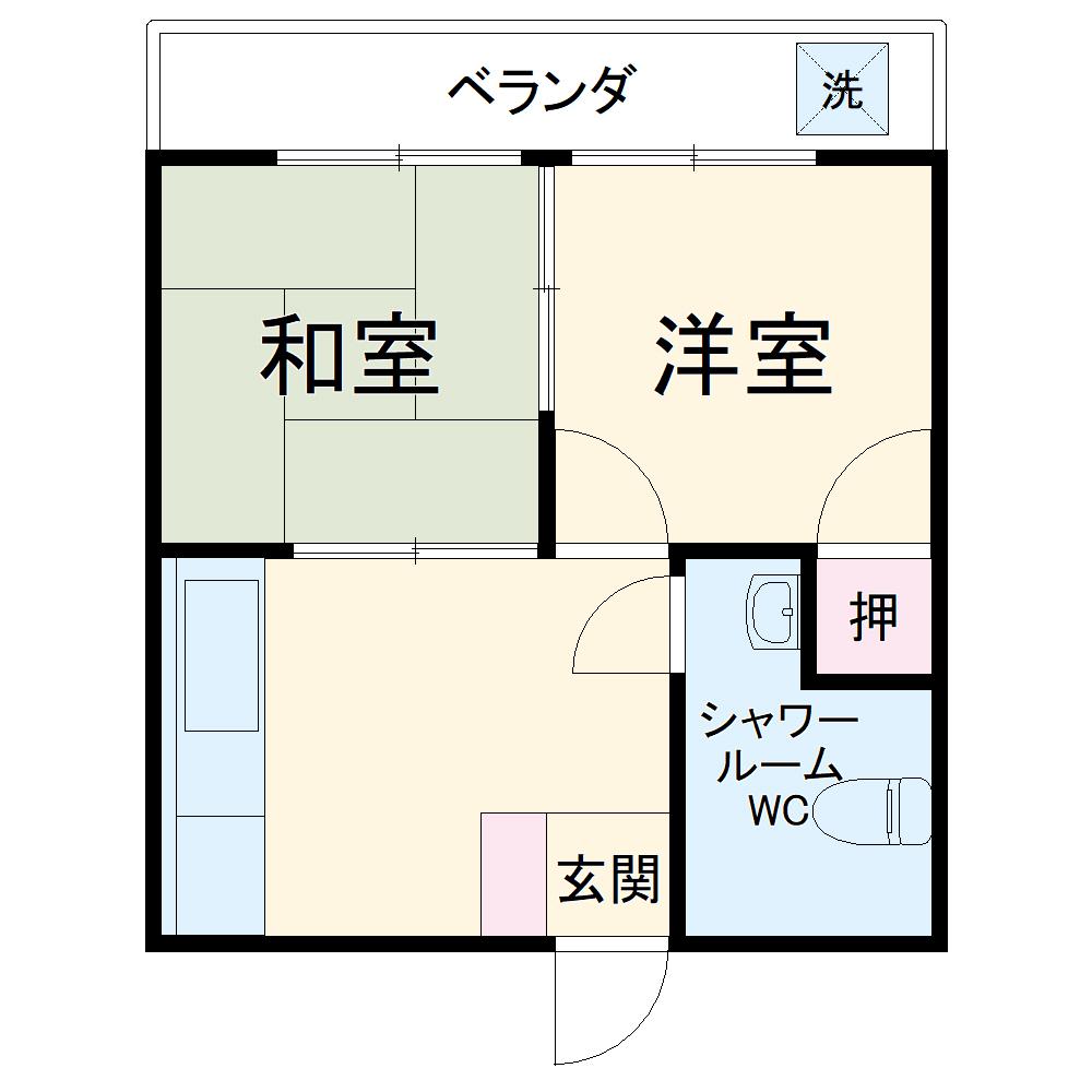 東アパート・316号室の間取り