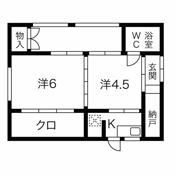 M-7 5号棟 戸建・1号室の間取り