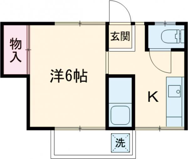渡辺コーポ・39号室の間取り