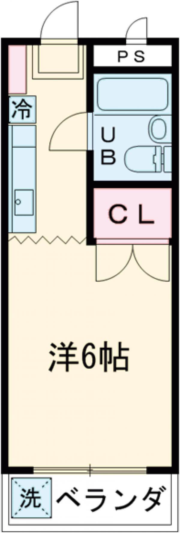 エクセル稲城・108号室の間取り