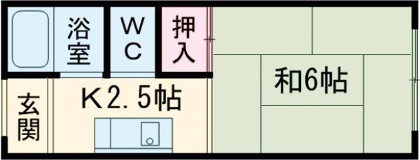 津之江ハイツ・111号室の間取り