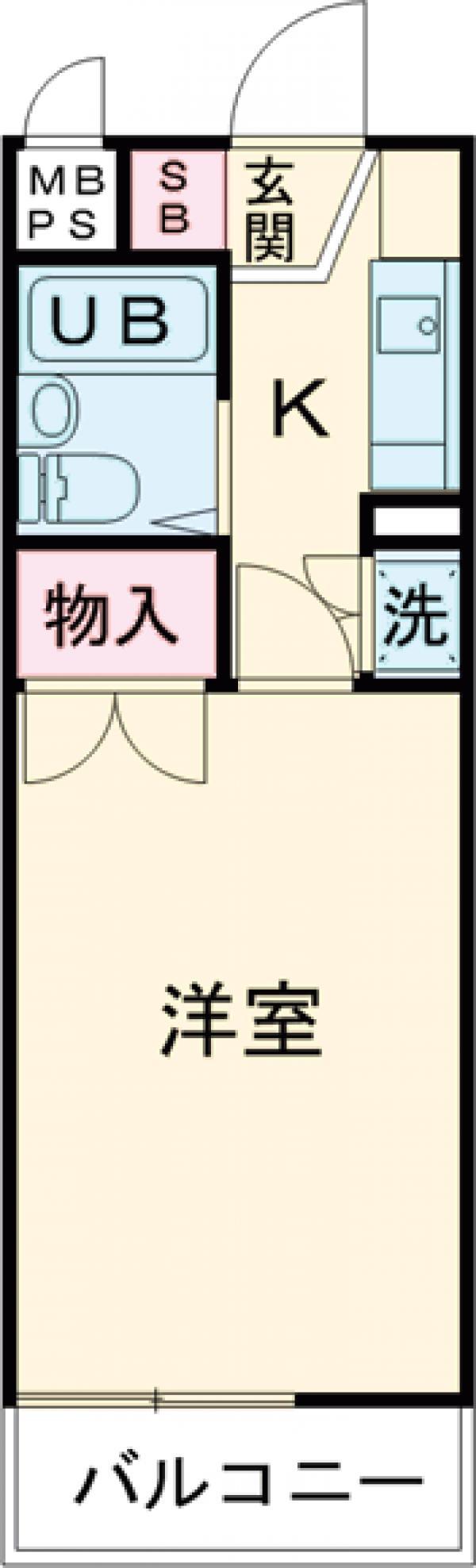 パレドール武蔵野台Ⅱ 212号室の間取り