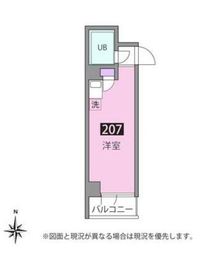 コアプラス洗足・207号室の間取り