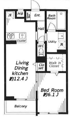 Beverly Homes下赤塚AP・202号室の間取り