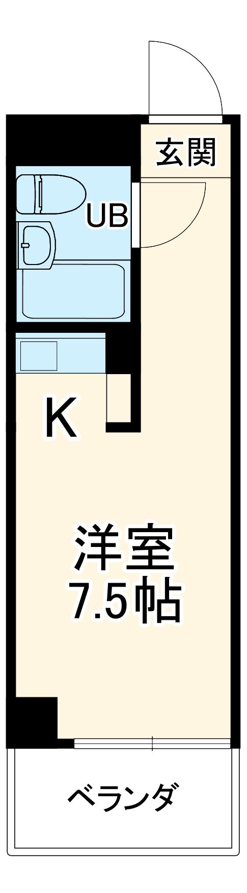 ラフィネ新栄・508号室の間取り