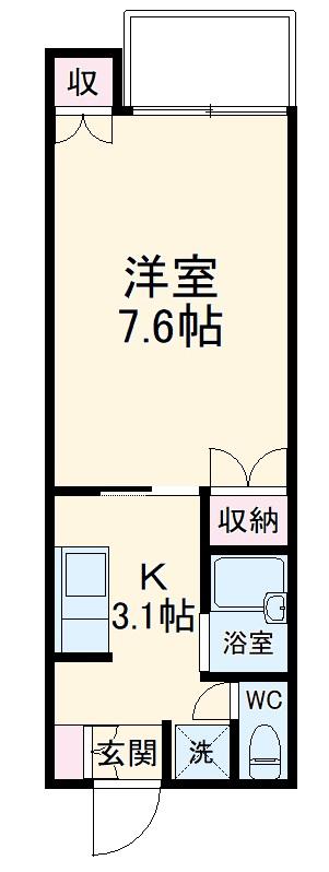 ハピネスHIRO・302号室の間取り