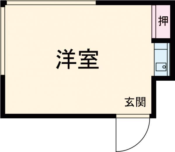 三恵荘・103号室の間取り
