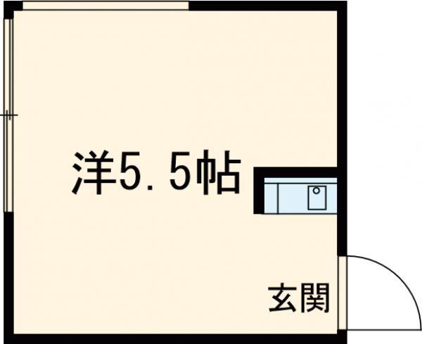 三恵荘・205号室の間取り