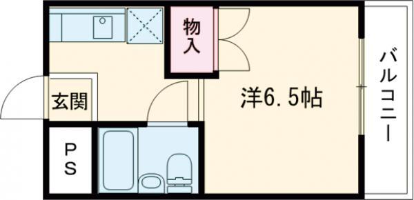 ナンノ第12号館・505号室の間取り