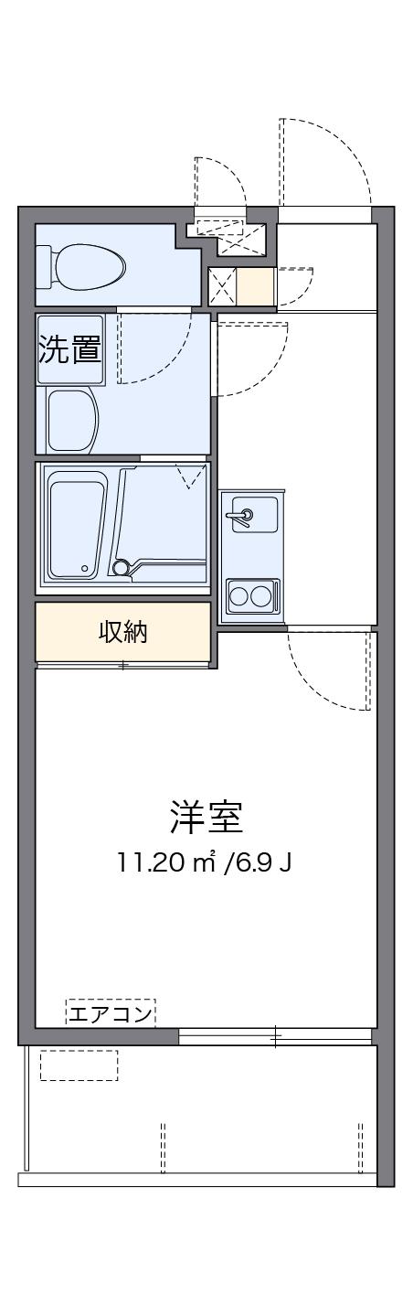 クレイノIshinbaru・207号室の間取り