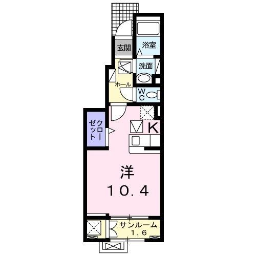 メゾン・エトワール・01030号室の間取り