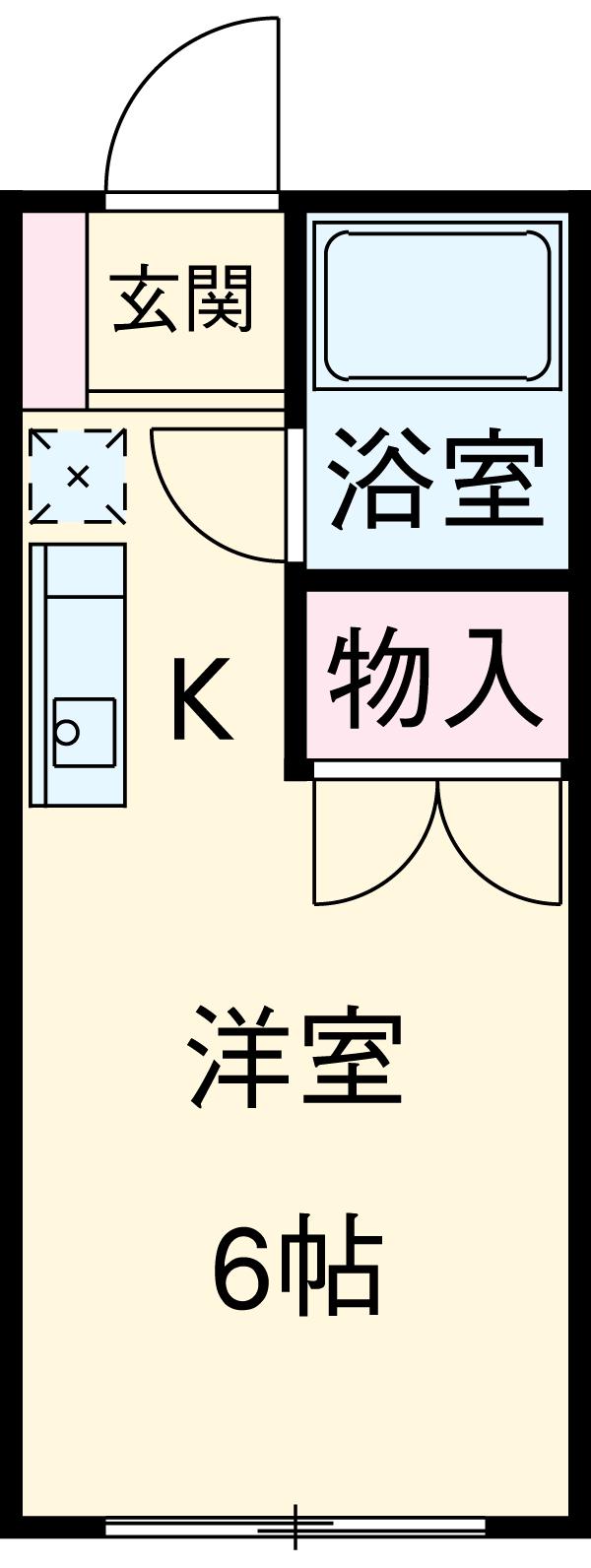 未来館西浦和・208号室の間取り