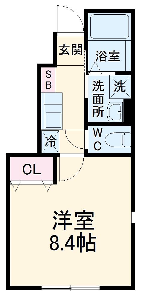 サザンウィンド Yoshioka・107号室の間取り