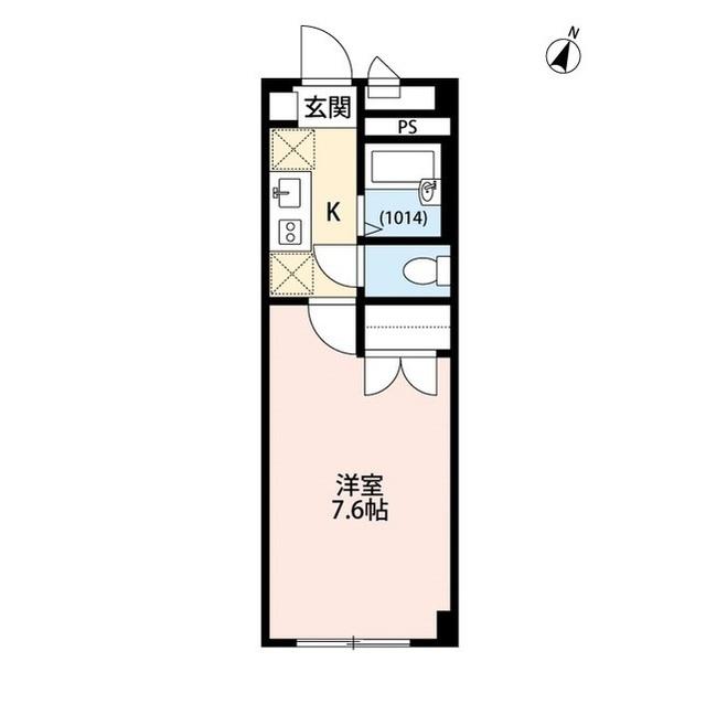 アンプルール フェール 上福岡Ⅱ・102号室の間取り