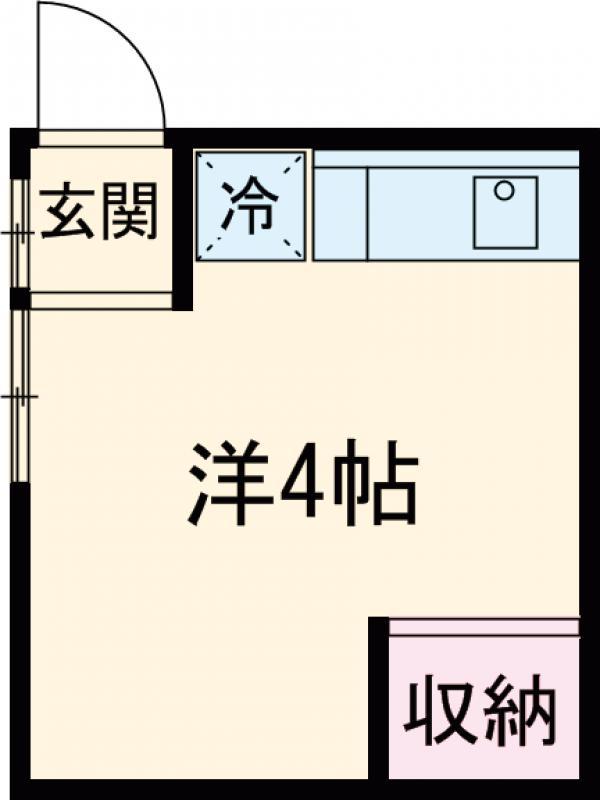 福田荘・201号室の間取り