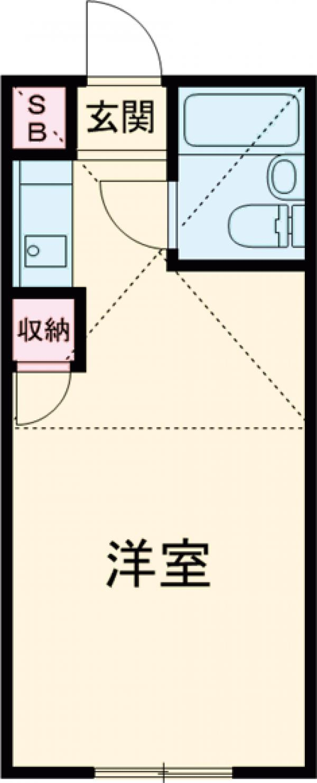 ビラ石神井公園・108号室の間取り