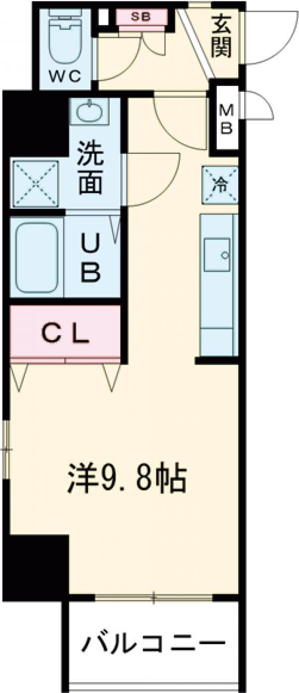 レオーネ亀戸Ⅱ・401号室の間取り