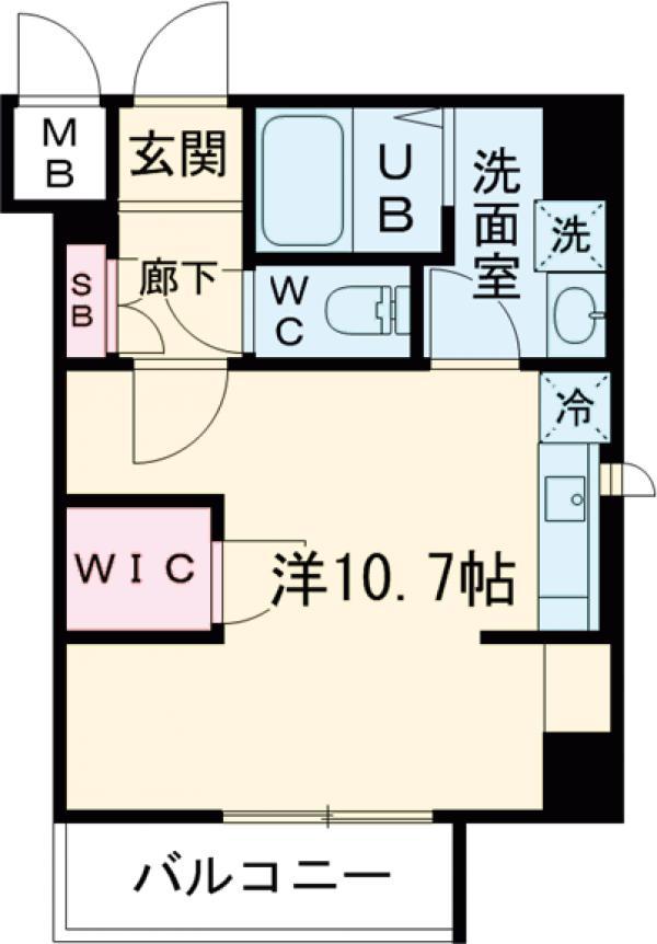 レオーネ亀戸Ⅱ・503号室の間取り