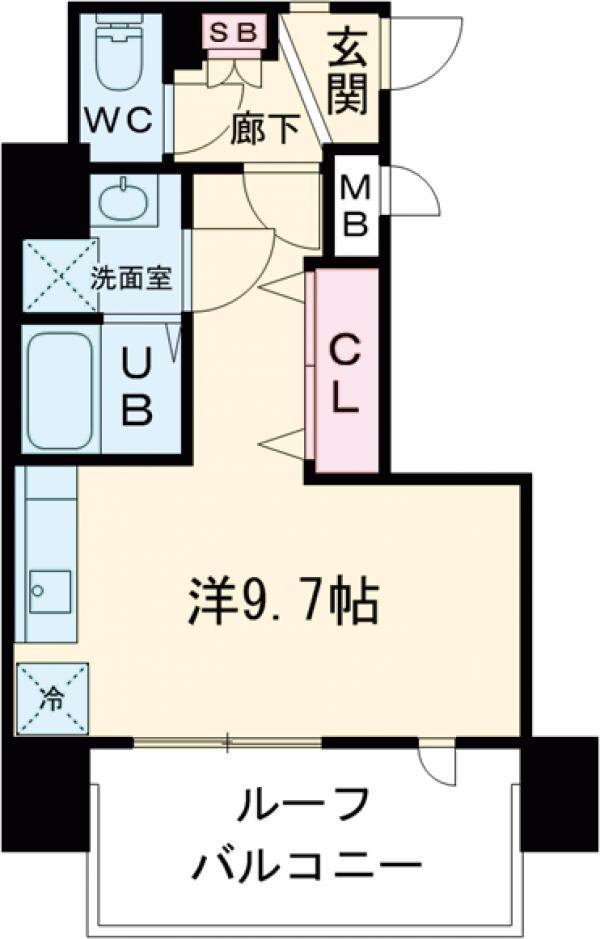 レオーネ亀戸Ⅱ・801号室の間取り