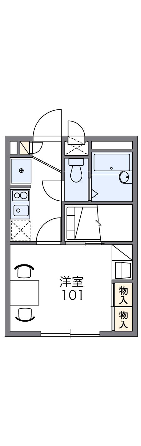 レオパレス富士見Ⅱ・101号室の間取り