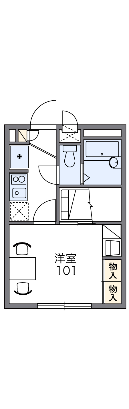 レオパレス富士見Ⅱ・308号室の間取り