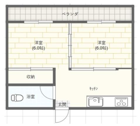 米須アパート・503号室の間取り