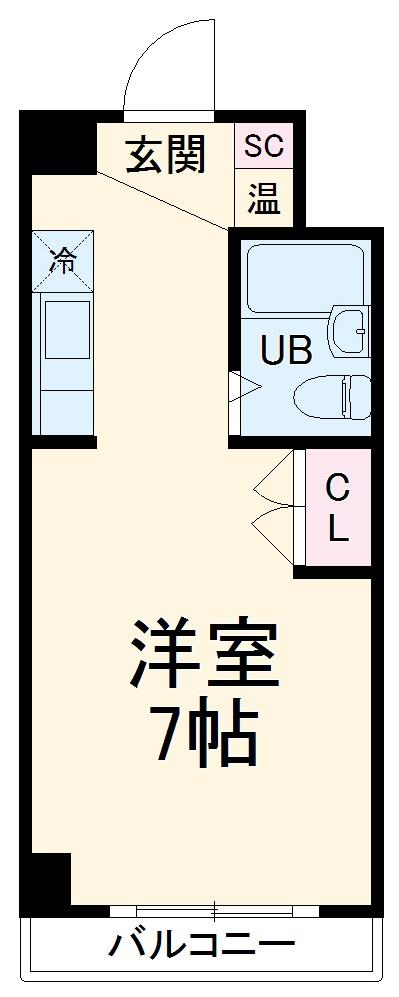 エストレージャ湘南・714号室の間取り