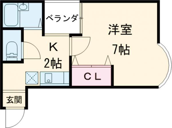 ソフィアハウス・303号室の間取り