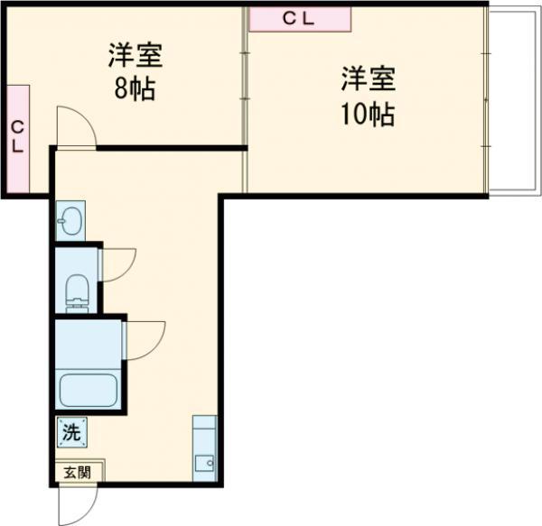 西荻セントラルマンション・403号室の間取り