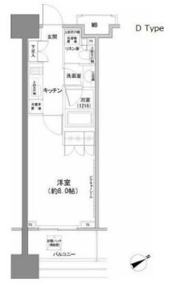 パークハビオ西新宿・204号室の間取り