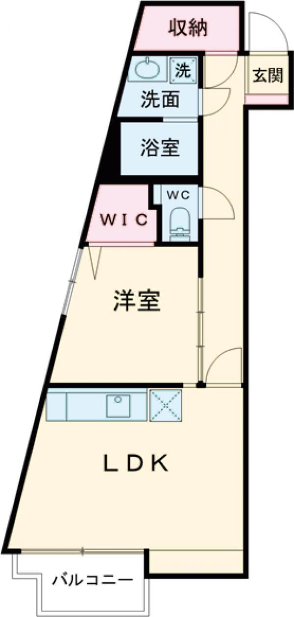 est Largo KOMAZAWAⅡ・101号室の間取り