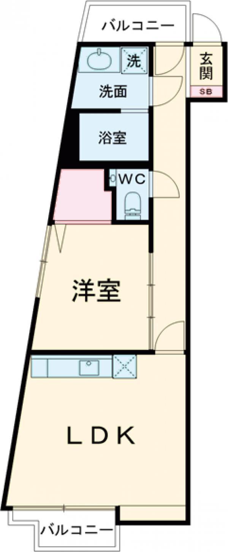 est Largo KOMAZAWAⅡ・201号室の間取り