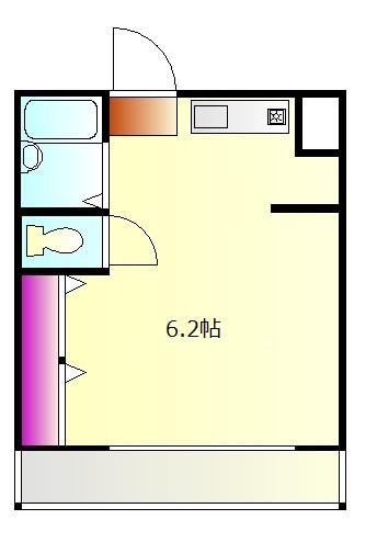 J・KマンションⅡ 205号室の間取り