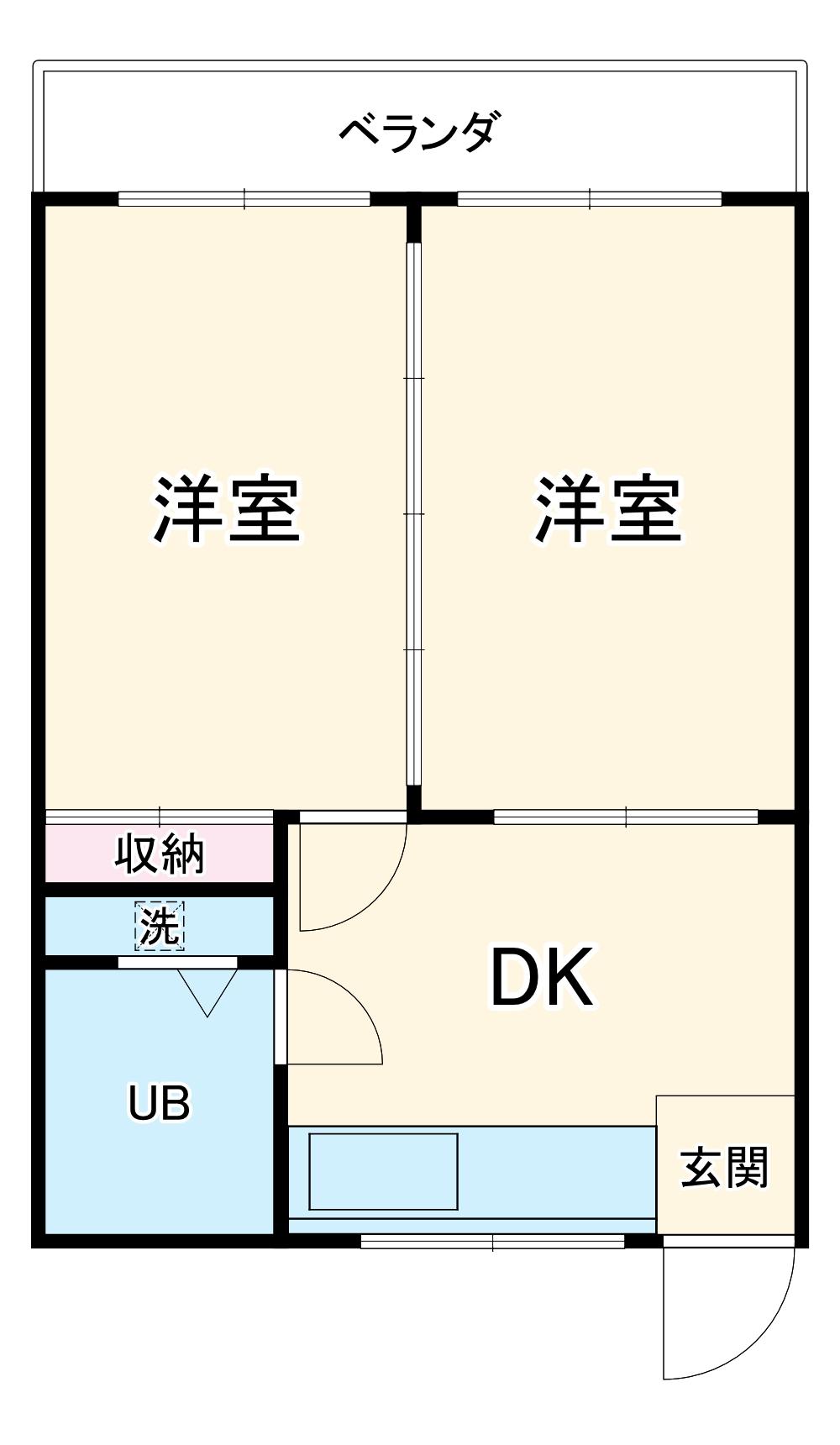 喜屋武アパート・301号室の間取り