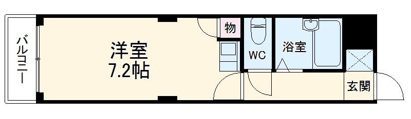 JOYハウス城西・2-D号室の間取り