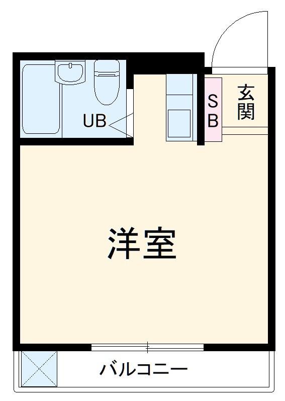 エクセルピア戸塚・206号室の間取り