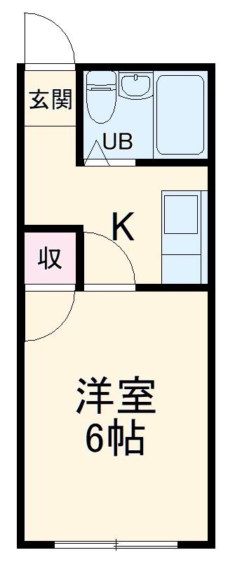 コーポ椎名崎・108号室の間取り