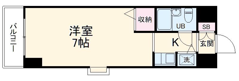 ジョイフル川崎弐番館・706号室の間取り