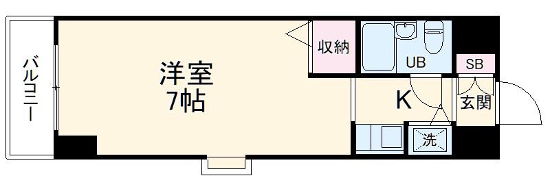ジョイフル川崎弐番館・806号室の間取り